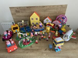 Peppa Pig Toy Bundle House School Plane Boat Train And More