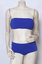 MICHAEL KORS Royal Blue High Waisted Bandeau Hipster Bikini - Size 10 L