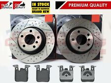 FOR BMW 3 4 SERIES F30 F34 F32 F36 REAR SPORT DIMPLED GROOVED BRAKE DISCS PADS