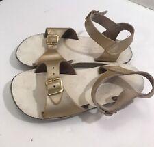 Sun-san Salt Water Sandals Girls Size 12 Gold