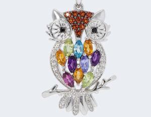 Harry Ivens IV Anhänger Silber 925 Multicolore Edelsteine