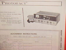 1965 REGENCY CB RADIO SERVICE SHOP MANUAL MODEL ROMPER (A-3)