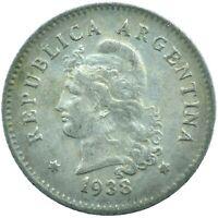 COIN / ARGENTINA / 10 CENTAVOS 1938  #WT18295