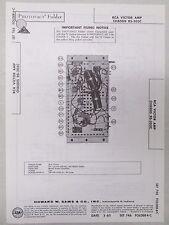 Sams Photofact Folder Radio Parts Manual RCA Victor Amp Chassis RS-203C Stereo