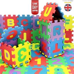 36 Pcs Foam Bath Numbers And Letters Child Kids Toddler 123 ABC Bath Toy Fun
