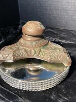 Vintage Bronze Art Deco Inkwell Antique