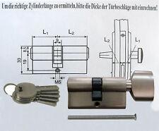 Drehknaufzylinder Zylinderschloss 60mm Tür-Zylinder-Schloss inkl.5 Schlüssel PND
