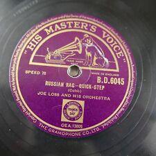 78rpm JOE LOSS russian rag / hamtramk