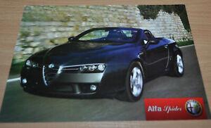 Alfa Romeo Spider Brochure Prospekt Russian Edition