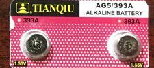 2 X AG5 LR750 LR754 LR48 393A SR48 SR754W  1.55V Alkaline Cell Button Battery