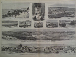 Jerusalem Temples Mosques Minarets Holy Place Views 1866 Harper's Weekly