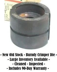 Burndy Hubbell U25RT 12 Ton U Crimper Die, Copper, 1/0 AWG, Y35 Y39 Y46 Y801