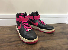 NIKE AIR FORCE 1 High Top Sneakers Womens Size 9 Shoes Pink and Black Basketball