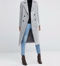 Branded Wool Blend Midi Coat/Jacket Raw Edges Pocket Detail UK 14/EU 42/US 10