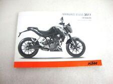 Folleto Manual de Uso y Mantenimiento KTM Duke 125 2011 Manual Uso Service 10 12