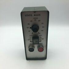 Vintage LOUIS ALLIS Speed Control Switch Box Run Stop Forward Reverse E9