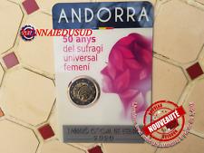 2 Euro CC Coincard BU Andorre 2020 - Suffrage Universel Féminin