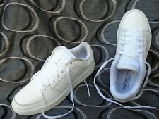 MEN'S ADIDAS NEO WHITE LACE UP TRAINERS UK SIZE 9