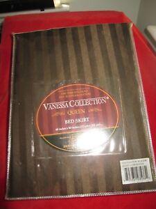 Vanessa Collection Queen 1500  Microfiber Wrinkle Resistant Stripe Bed Skirt