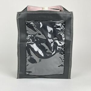 Mary Kay Consultant Black & Pink Look Bag Tote Organizer w/ Clear Plastic Window