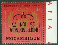 EDW1949SELL : MOZAMBIQUE 1975 Scott #521 Inverted Overprint. Very Fine, MNH.