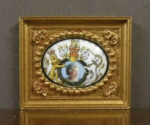Porcelain Picture ~Dollhouse~ UK ~ 1/12 or 1/24 scale ~Artisan~ Queen  Elizabeth
