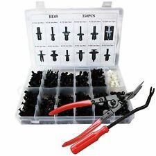 350 Clips+Tools Car Body Retainer Push Rivet Trim Moulding Fastener Screwdriver