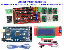 AU 3D Printer Kit RAMPS 1.4 Board+LCD2004+MEGA2560 Module+5 xA4988 for RepRap