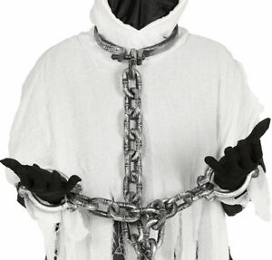 Neck and Hands Shackles Prisoner Chains Ball & Chain Fancy Dress Party Accessory