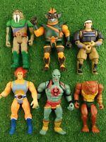 Bundle of Vintage 1980s Thundercats Action Figures Lion-O Mummra Jackalman etc