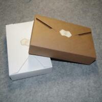 10pcs Kraft Paper Cookie Packaging Bags Envelope Biscuit Box Storage Gift G5E9