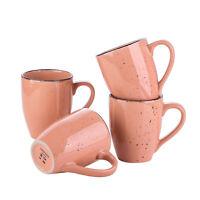 vancasso, Series Navia Set of 4 Pink Coffee Mug Set Tea Cup 12 Ounce Stoneware
