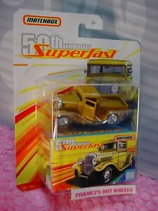 2019 Matchbox Superfast '32 Ford Camioneta #08 Gold-Yellow 50th Aniversario