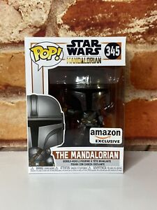 Funko POP! Star Wars The Mandalorian Chrome Amazon Exclusive #345