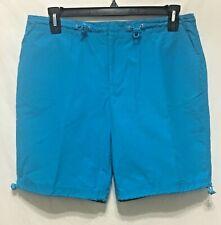 Moda International turquoise flat front shorts women's 14