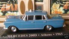 MERCEDES BENZ 200D ATHENS TAXI 1/43 GRECE GREEK BLEU BLUE IXO ALTAYA 200 D BLAU