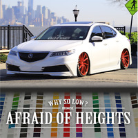 "Afraid of heights 35"" 90cm JDM japanese car vinyl decal windshield sticker windo"