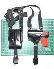 Tagua SH4-441 LH Black Leather Shoulder Holster Dual Magazine Pouch for SIG P239