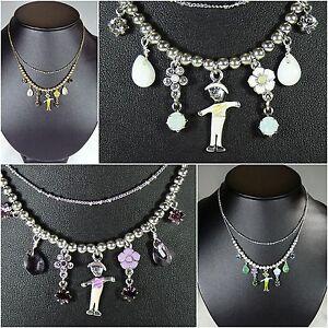 PILGRIM Halskette Kette Halsreifen, Schmuck, Weiß, Orange, Grün, Lila, Männchen
