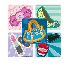 20 Fashion Dress Up Shaped STICKERS Party Favor Supplies Treat Bag Lipstick shoe