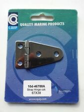 Marine Grade Stainless Steel Strap Hinge - 67mm x 38mm