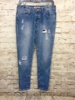 Cotton on Womens boyfriend ripped distressed denim jeans size 4