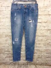 Cotton on Womens boyfriend ripped distressed denim jeans size 4
