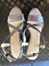 Cole Haan Taylor Wedge Silver Sandals women's size10