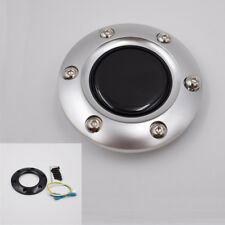 Silver Real Carbon Fiber shape Car Steering Wheel Horn Button Cover High quality