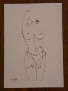 Woman Body, Minimalist Line Artwork Drawing Illustration, A4 / by L. Santos