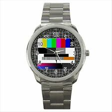 NEW* HOT NO SIGNAL TV Quality Sport Metal Wrist Watch Gift