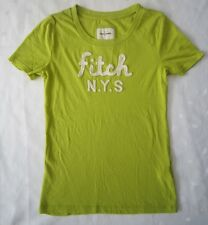 ABERCROMBIE AND FITCH KIDS GIRLS LOGO T-SHIRT - LIME GREEN - SIZE XL JUNIORS