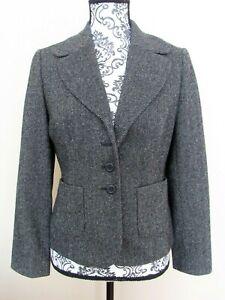 Ann Taylor LOFT Petites black & white wool 2 pocket blazer 4-button closure, 8P
