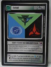 Star Trek TNG CCG Promo Card Treaty: Federation/Romulan/Klingon
